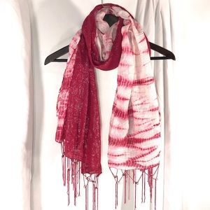 NWT Shimmer Tie Dyed Fringe Scarf